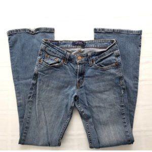 Levi's 518 Superlow Boot Cut Denim Blue Jeans 3M